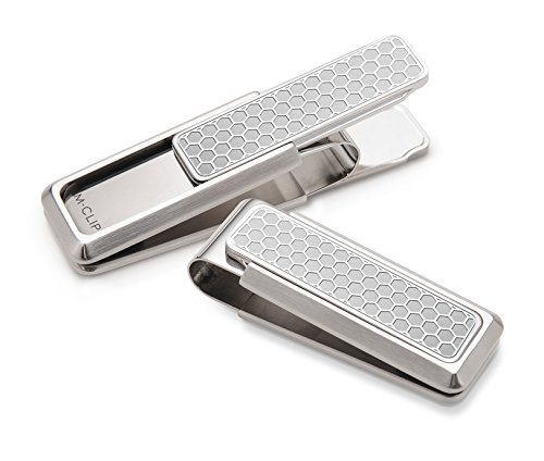 M-Clip Men's Stainless Brushed With Etched Honeycomb by M-Clip
