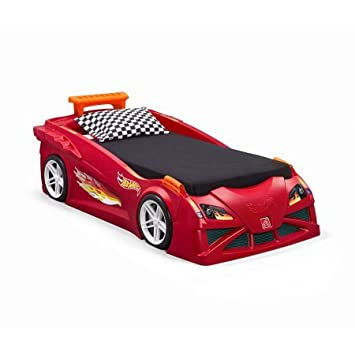 Step2 Hot Wheels Toddler To Twin Race Car Bed  Red. Amazon com   Step2 Hot Wheels Toddler To Twin Race Car Bed  Red   Baby