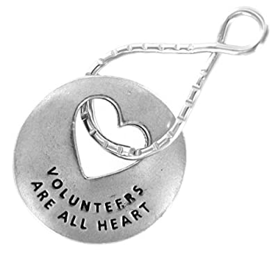 Volunteers Are All Heart Blessing Ring Keychain