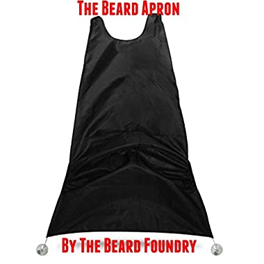 The Beard Apron by The Beard Foundry - Black - Easy and Effective Way to Keep Your Sink Clean From Beard Trimmings, Hairs and Whiskers