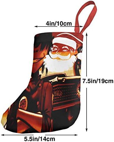 クリスマスの日の靴下 (ソックス3個)クリスマスデコレーションソックス 音楽 Gorillaz クリスマス、ハロウィン 家庭用、ショッピングモール用、お祝いの雰囲気を加える 人気を高める、販売、プロモーション、年次式