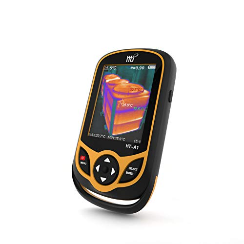 Hti HT-A1 Infrared (IR) Thermal Imager & Visible Light Camera with IR Resolution 35,200 Pixels & Temperature Range from -20~300°C, 9 Hz Refresh Rate