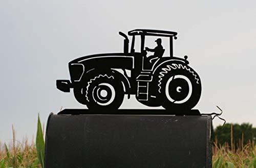 Modern Tractor Metal Mailbox Topper