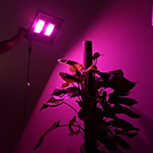 Yumian Plant LED Grow Light 100W, Waterproof IP67 Aluminum COB LED Grow Light For Greenhouse Hydroponic Indoor Plant (170-265V)