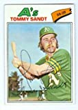 Tommy Sandt autographed baseball card (Oakland Athletics) 1977 Topps #616 Ball Point Pen