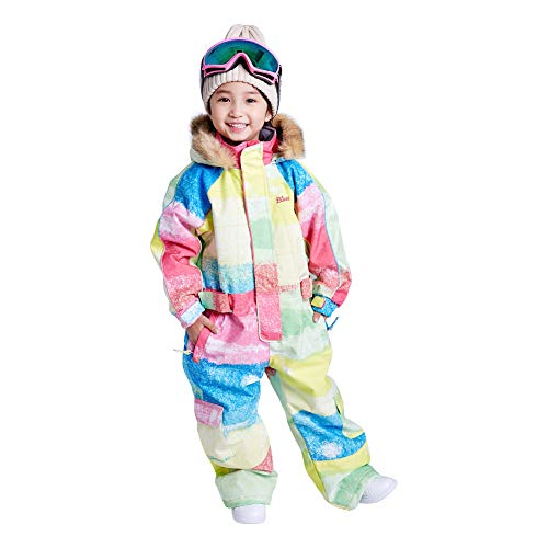 25c962231 Little Kid's One Piece Overall Snowsuits Ski Suits Jackets Coats Jumpsuits  (120cm, Rainbow)