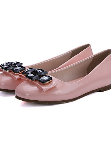 PDX/ Damenschuhe - Ballerinas - Büro / Kleid / Lässig - Lackleder - Flacher Absatz - Rundeschuh - Schwarz / Rosa / Rot / Beige pink-us8 / eu39 / uk6 / cn39