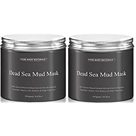 Beauty Dead Sea Mud Mask for Facial Treatment 454g / 16 fl.oz (2 Jars Better Value)