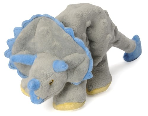 goDog Dinos Triceratops With Chew Guard Technology Tough Plush Dog Toy, Grey, (Go Dog Dog Crate)