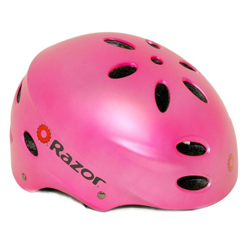 Razor V-17 Child Multi-Sport Helmet, (Brown Chin Strap)