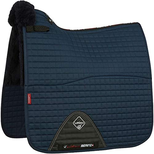 Le Mieux Merino and Half Lined Cotton Dressage Square Saddle Pad Large Navy