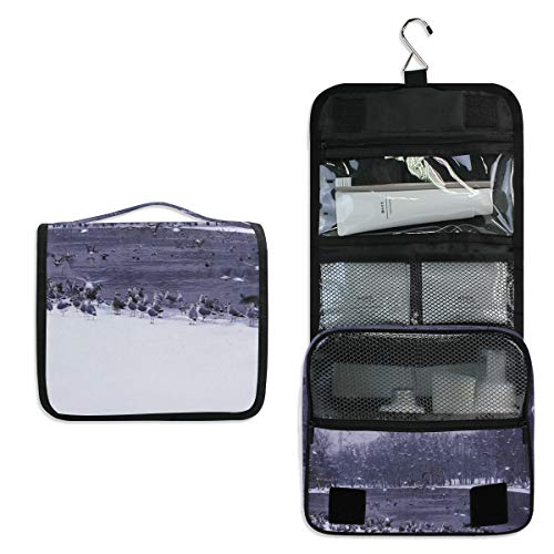 cab653ecfed1 Hanging Toiletry Bag Water Nature Forest Waterproof Wash Bag Makeup  Organizer for Bathroom Men Women