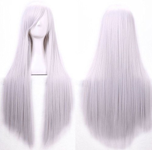 [Fashion 80cm Long Straight Cosplay Costume Party Hair Anime Wigs Full Hair Wigs] (Soda Mini Costumes)
