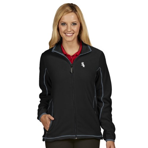 MLB Chicago White Sox Women's Ice Jacket, Black/Steel, (Sox Womens Jackets)