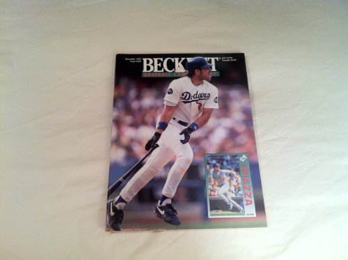 Beckett Baseball Card Monthly Dec 1993 (Front cover featuring Mike Piazza, Vol. 10, No. 12 Issue #105)