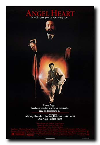 Mile High Media Angel Heart Movie Poster 24x36 Inch Wall Art Portrait Print - Ready to Frame - Mickey Rourke - Robert Dinero