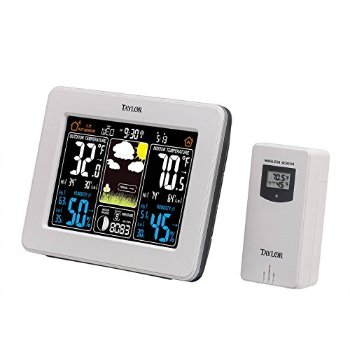 Taylor Wireless Digital Deluxe Color Weather Station Forecaster -
