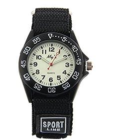 Outdoors Watch with Black Velcro Strap Children Kids Watches Outdoor Sports Boy Girl Watch Waterproof Watches