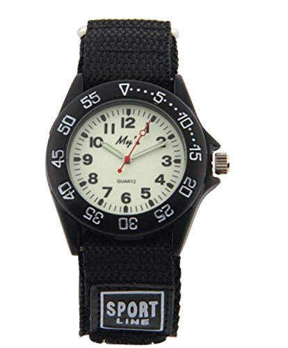 Outdoors Watch with Black Velcro Strap Children Kids Watches Outdoor Sports Boy Girl Watch Waterproof Watches