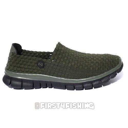Navitas Weaves Slip On Bivvy Shoes - Carp Pike Coarse Fishing Camping Clothing Green Weave Ru2nc2