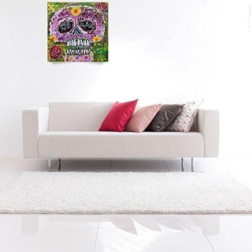 Wall Art Print entitled Craneo Rosado De Los Muertos by Laura Barbosa | 37 x 36