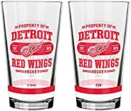 NHL Detroit Red Wings Property of Mixing Glass, 2-Pack