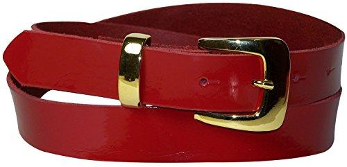 Da Fronhofer E Articolo Cm Donna Rosso Lacca In Passante Fibbia Alta Con Vernice 18221 Dorato Cintura 3 Metallo r11qnx5