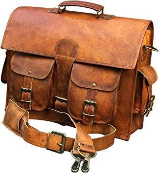 Image Unavailable. Image not available for. Color  Leather Messenger Bags  for Men Women Mens Briefcase Laptop Bag Best Computer Shoulder Satchel  School ... c90b543f17bf4