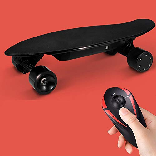 Electric Skateboard, 350W Hub-Motor Wireless Remote Controlled E-Skateboard, Portable Cruiser Skate Board, 30km/h Top Speed,14m Range Remote Control for Riders, Kids and Adults