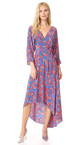 Dress Dvf Silk Wrap (Diane von Furstenberg Women's L/S Asymmetric Hem Dress, Elsden Denim, X-Small)