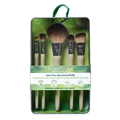 EcoTools Makeup Brush Set for Eyeshadow, Foundation, Blush, and Concealer, Set of five