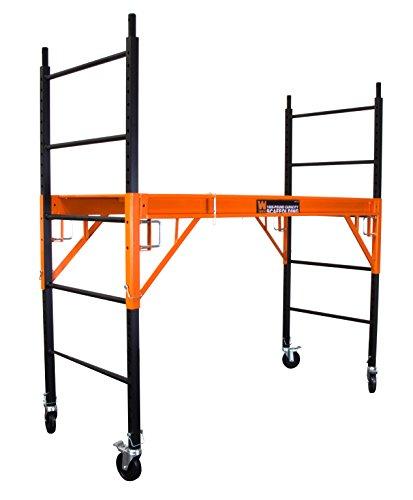 WEN 31109 1000 lb Capacity Rolling Industrial Scaffolding