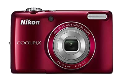 COOLPIX L26 16.1 MP Digital Camera w/ 5x Zoom NIKKOR Glass Lens and 3 In. LCD - Red
