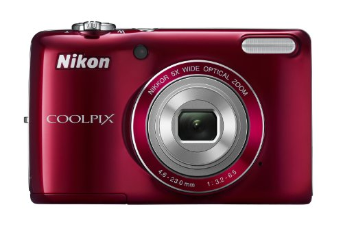 COOLPIX L26 16.1 MP Digital Camera w/ 5x Zoom NIKKOR Glass Lens and 3 In. LCD – Red