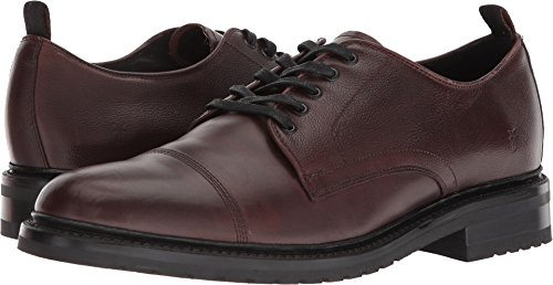 Scotch Grain (FRYE Men's Officer Oxford Brown Smooth Pull Up/Scotch Grain 9.5 D US)