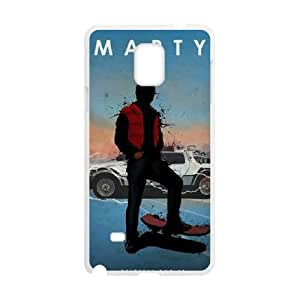 Back To The Future Samsung Galaxy Note 4 Cell Phone Case White WON6189218967504
