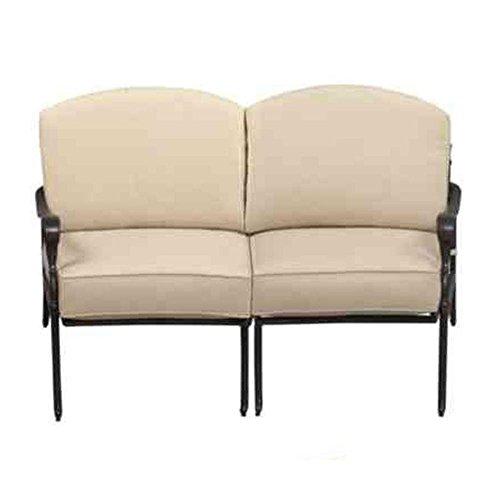 Hampton Slipcover (Hampton Bay Edington Aluminium Outdoor Loveseat Sectional with Cushion Insert (Slipcovers Sold Separately))