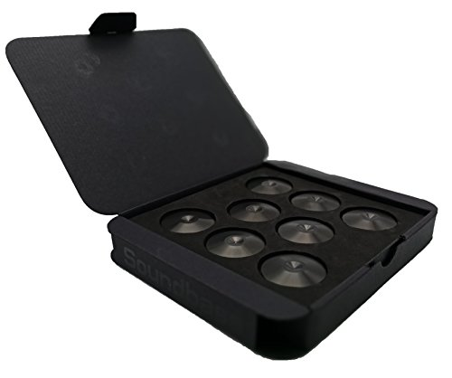 Set of 8 Satin Black Hi-Fi Spike Shoes Isolation Pads by Soundbass by Sound Bass (Image #2)