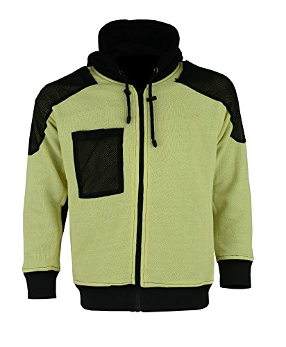 newfacelook Mens Motorcycle Hoodie Motorbike Hoodies Man Aramid Protection Fleece Biker Jacket