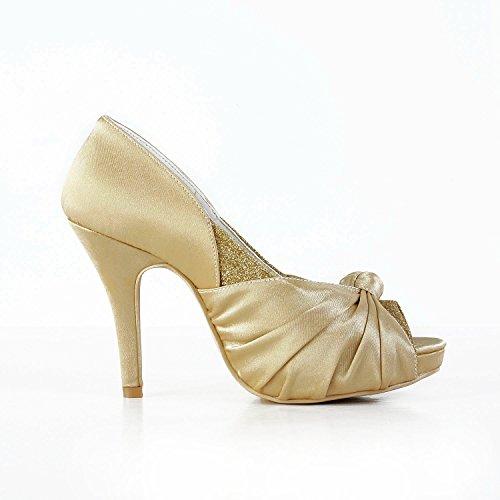 Minitoo , Damen Pumps Gold-10cm Heel