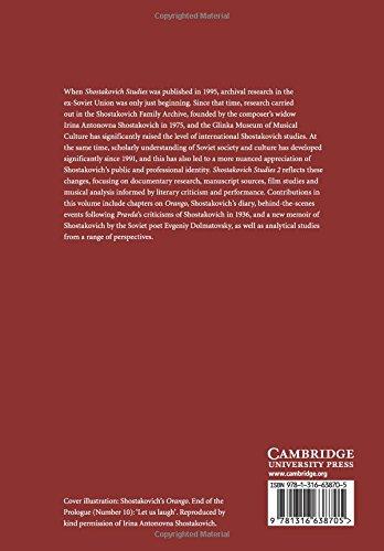 Shostakovich Studies 2 Cambridge Composer Studies