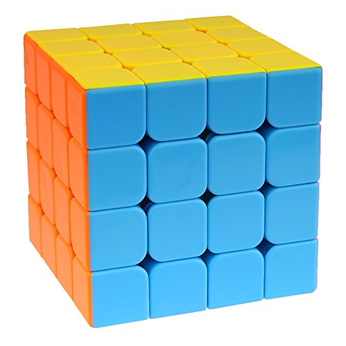 Speed Cube,urophylla Speed Magic Cube 4x4x4 Stickerless Smooth Cube Tension Can Be Adjusted Super-du