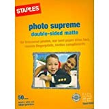 Staples Photo Supreme Double-sided Matte Photo Paper for ALL Inkjet Printers