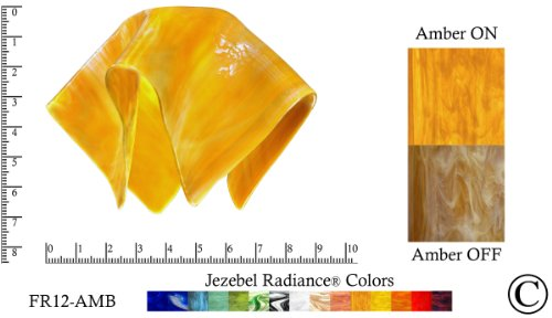Jezebel Radiance® Small Flame Amber Gold Yellow Glass Pendant/Ceiling Fan Light Replacement Glass Shade, 1 5/8