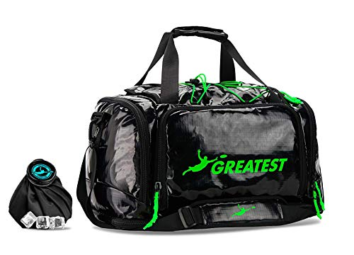 GREATEST Ultimate Bag 45 Liter - #1 World's Ultimate Frisbee Bag. Built in Insulated Cooler Compartment and Organization System. Also Perfect Sports Duffel Bag for Other Outdoor Sports - Green (Best Cleats For Ultimate Frisbee)