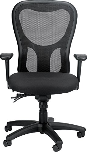 Eurotech Seating Apollo MM95SL High Back Chair with Seat Slider, Black ()