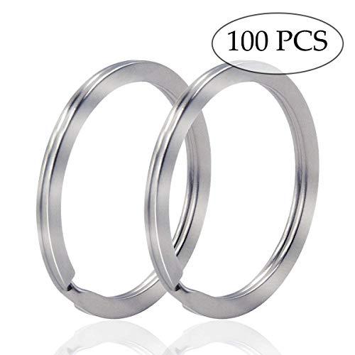 Key Ring - 100PCS, 32mm Nickel Plated Square Edged Split Key Chain Rings for Car Home Keys Organization, Arts & Crafts, Lanyards