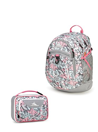 High Sierra Fatboy Backpack + Single Compartment Lunch Kit - Safari (Safari Lunch)