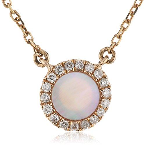 AS29 Collier Diamant Femme 40cm