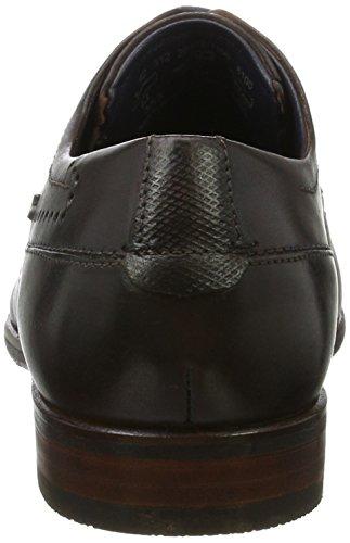 Bugatti 312294021100, Scarpe Stringate Uomo Marrone (Dark Brown)